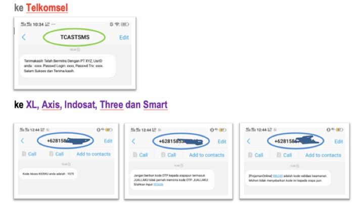 sms otp indonesia sms masking muncul nama aggregator